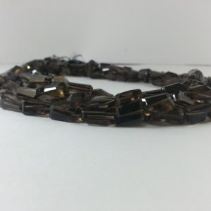 smoky quartz tumble beads