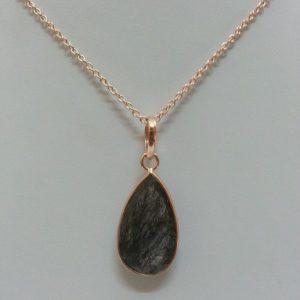 black rutile pendant