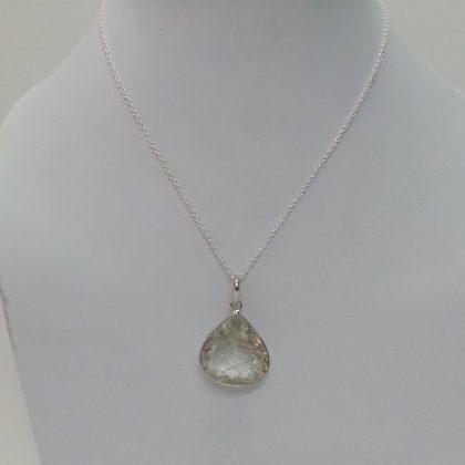 rutile heart pendant