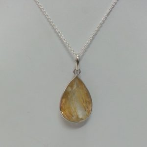 golden rutile quartz pendant