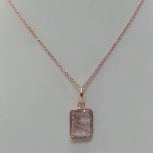 red quartz pendant