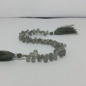gray moonstone teardrop beads