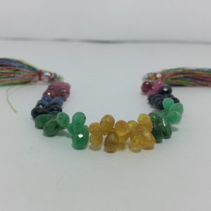 ruby emerald sapphire drops beads