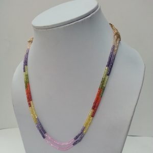 cubic zirconia beads necklace
