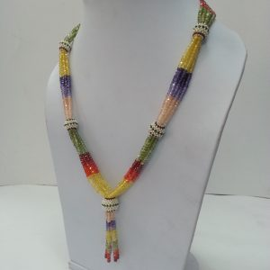 multi color beads necklace