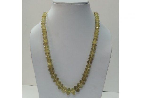 lemon quartz beads necklace