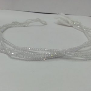 white cubic zirconia beads
