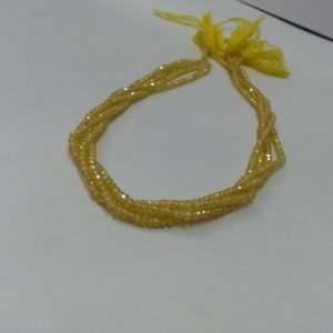 yellow cubic zirconia beads