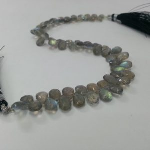 labradorite pear beads