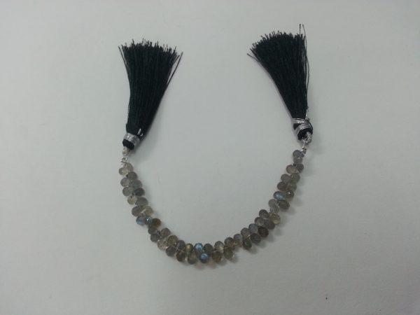 labradorite drops beads