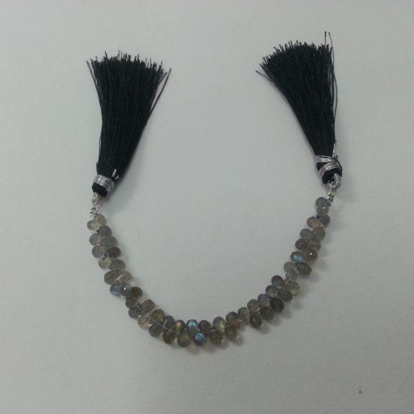 5 Beads 80/% OFF SALE Labradorite Fancy Shape Facetade Step Cut Briolette
