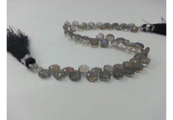 labradorite heart beads