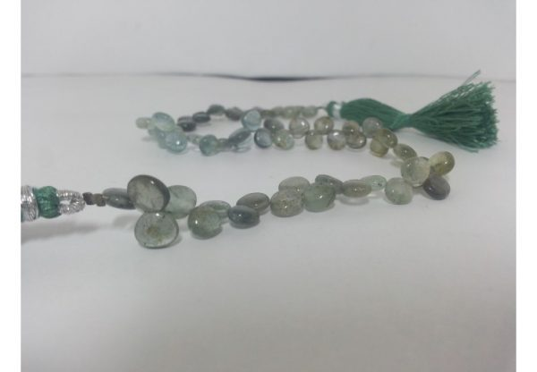 aquamarine heart beads