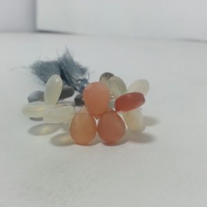 moonstone pear beads