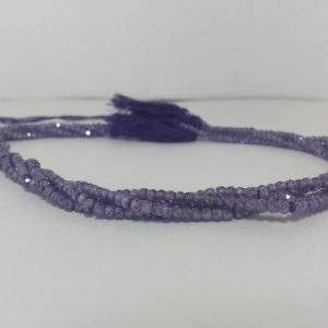 purple cubic zirconia beads