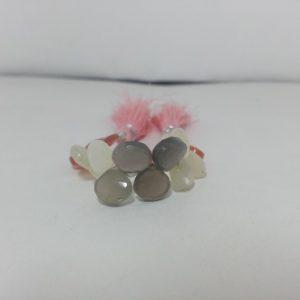 moonstone heart beads