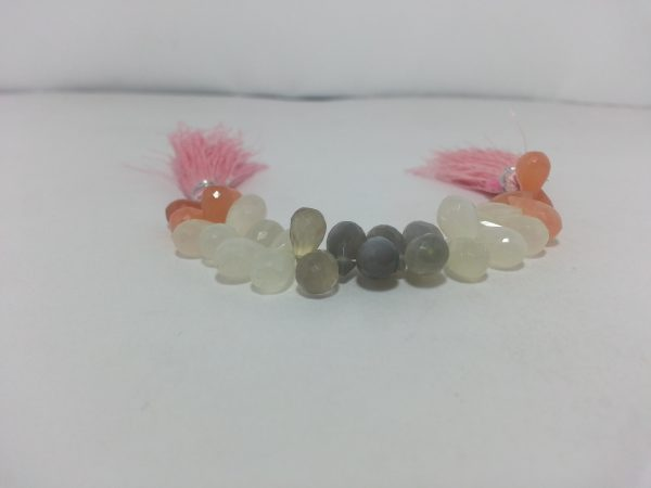 multi moonstone drops beads
