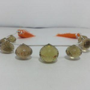 champagne quartz beads