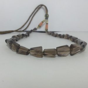smoky quartz tumble necklace