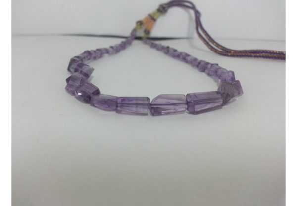 amethyst tumble beads necklace