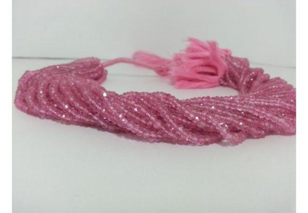 pink topaz beads