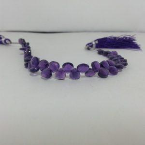 african amethyst heart beads