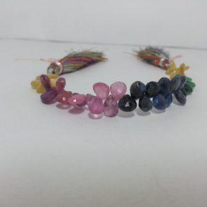 multi precious pears beads