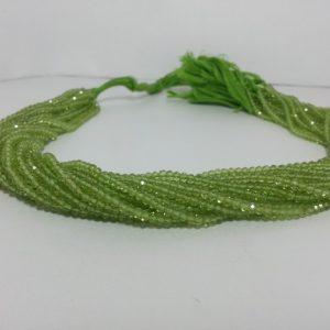 3mm peridot beads