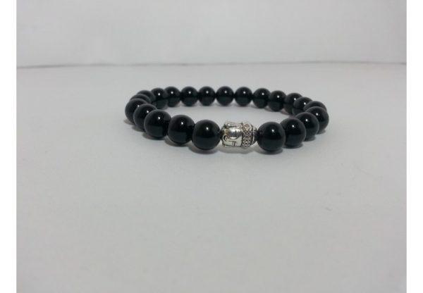 black onyx beads bracelet