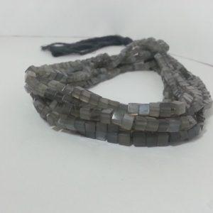 gray moonstone cube beads