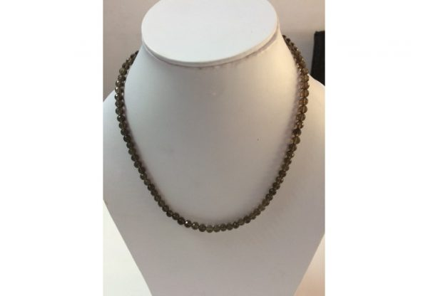 smoky quartz beads necklace