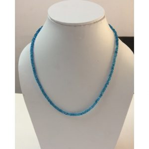 blue topaz beads necklace