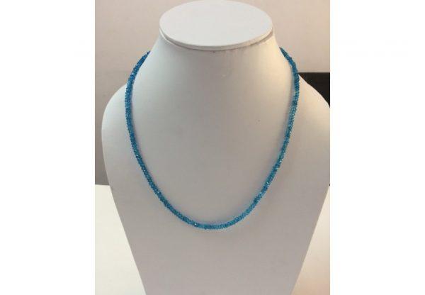 blue topaz beads necklace