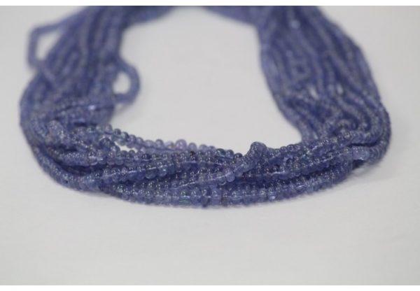 tanzanite smooth beads