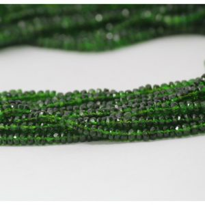 green chrome diopside beads