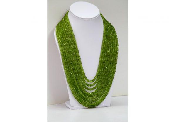 peridot beads necklace