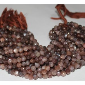 chocolate moonstone round beads