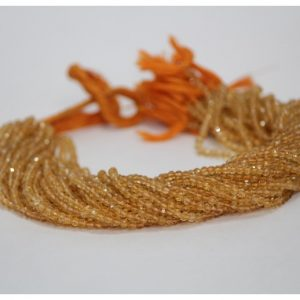 citrine round beads