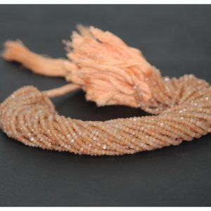 peach moonstone beads