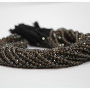 smoky quartz round beads
