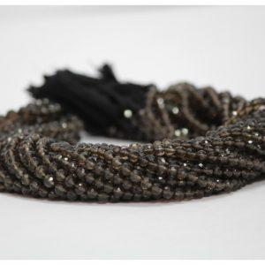smoky quartz round beads
