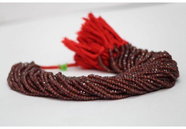 red garnet beads
