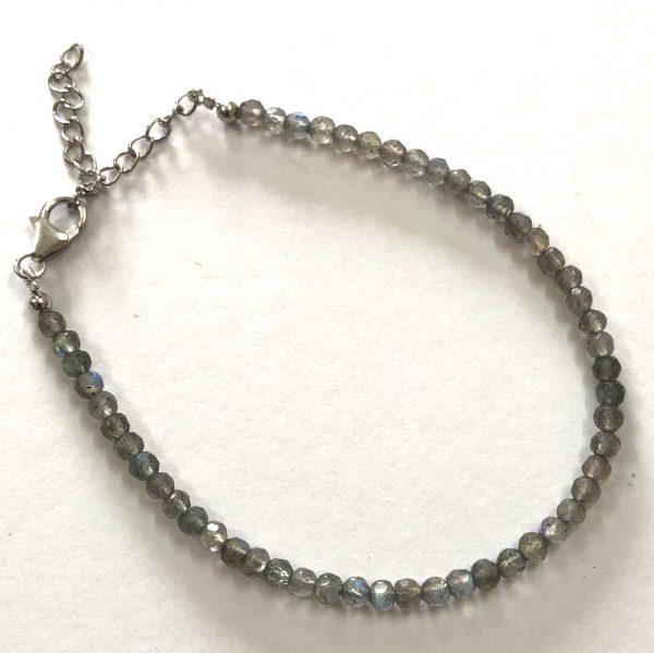 labradorite round beads bracelet