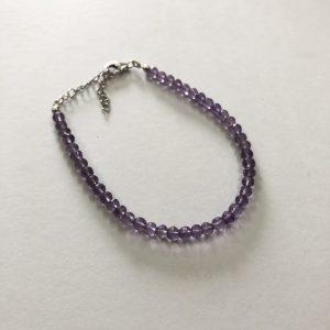 amethyst round beads bracelet