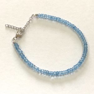 sky topaz beads bracelet