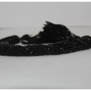 2mm black spinel beads lot