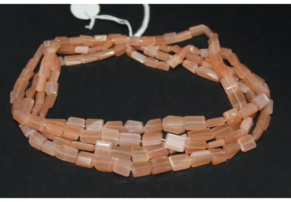 peach moonstone tumble beads