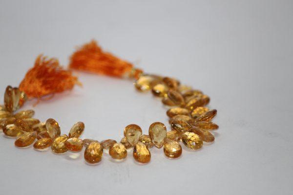 citrine pear beads