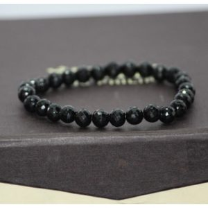 6mm black spinel bracelet