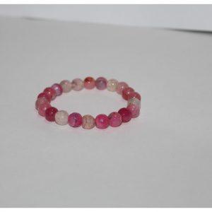 8mm pink agate bracelet